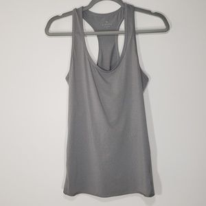 Athleta Gray Racerback Workout Tank Top, Size S